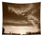 Sunset And Clouds Tapestry