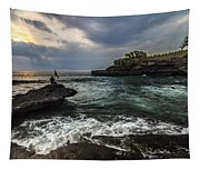 Sunset At Bali Tapestry