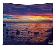 Sunset At Mauritius Tapestry