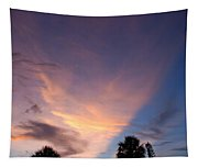 Sunset At Pine Tree Tapestry