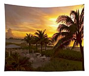 Sunset On Grace Bay Tapestry