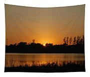 Sunset On The Edge Tapestry