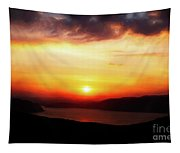 Sunsetting Over Portree, Isle Of Skye, Scotland No.2. Tapestry