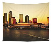 Tampa At Sunset Tapestry
