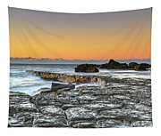 Tessellated Rock Platform And Seascape Tapestry