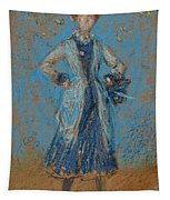 The Blue Girl Tapestry