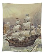 The Fleet Of Jean Ango Blocks The Tagus Tapestry