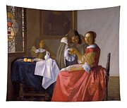 The Girl With A Wineglass Tapestry