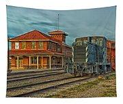 The Historic Santa Fe Railroad Station Tapestry
