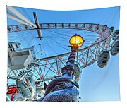 The London Eye And Street Lamp Tapestry
