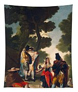 The Maja And The Cloaked Men, Or A Walk Through Andalusia Tapestry