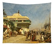 The Port Of Algiers Tapestry