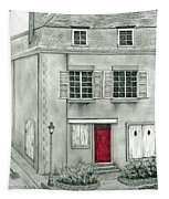 The Red French Door Tapestry