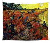 The Red Vineyard At Arles Tapestry