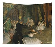 The Rehearsal Of The Ballet On Stage Tapestry