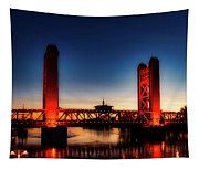 The Tower Bridge At Sunset Tapestry