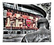 Thierry Henry Statue Emirates Stadium Art Tapestry