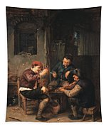 Three Peasants At An Inn Tapestry
