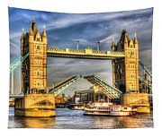 Tower Bridge And The Dixie Queen Tapestry