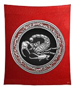 Treasure Trove - Sacred Silver Scorpion On Red Tapestry