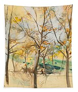 Trees In The Bois De Boulogne Tapestry