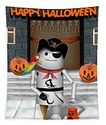 Trick Or Treat Time For Robo-x9 Tapestry