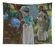 Two Girls With Parasols Tapestry
