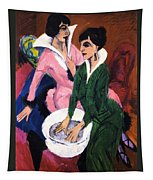 Two Women With A Washbasin Tapestry