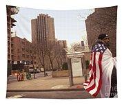 Urban Flag Man Tapestry