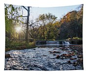 Valley Creek Waterfall - Valley Forge Pa Tapestry