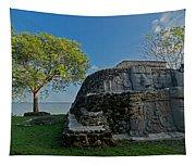 View Of Cerros Maya Ruins At Cerros Tapestry
