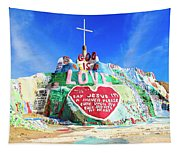 View Of Salvation Mountain Tapestry