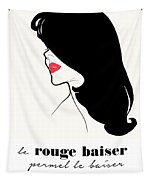 Vintage Paris Fashion Tapestry