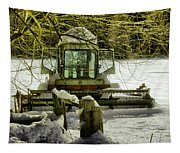 Waiting Out The Snow Tapestry