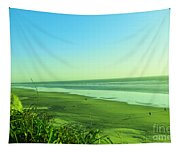 Walking The Beach Tapestry