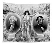 Washington And Lincoln Tapestry