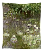 Waterlilies At Midday Tapestry by Claude Monet