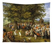 Wedding Banquet Presided Over By The Archduke And Infanta Tapestry