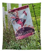 Welcome To My Garden Tapestry