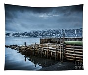 Wharf In Norris Point, Newfoundland Tapestry