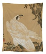 White Eagle Eyeing A Mountain Lion Tapestry