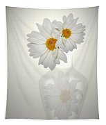 White On White Daisies Tapestry