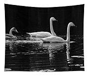 Whooper Swan Family Tapestry
