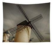 Windmills At Campo De Criptana Tapestry