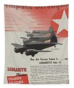 World War II Advertisement Tapestry