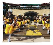 Wyoming Cowboys Entering The Field Tapestry