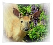 Young Buck Among The Lupin Tapestry