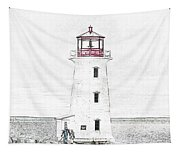 You're My Beacon Peggy's Cove Lighthouse Tapestry