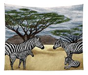 Zebra African Outback  Tapestry