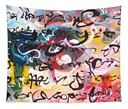 Abstract Calligraphy Tapestry